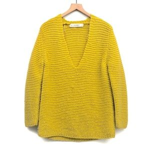 Zara Knit Oversized Yellow Sweater - Size M